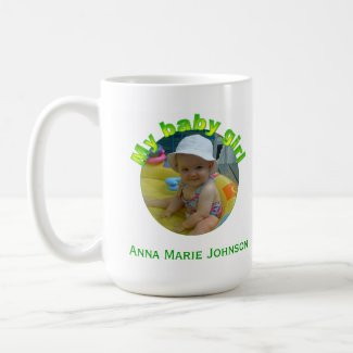 Personalized: My Baby Girl: Picture Mug mug
