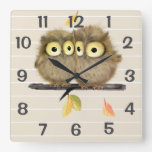 Personalized  Owls Wall Clock