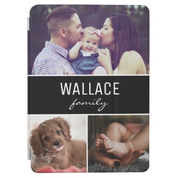 Personalized Photo Collage Family Name Custom iPad Air Cover