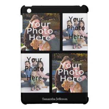 Personalized Photo Collage iPad Case, 4 Photos Case For The iPad Mini