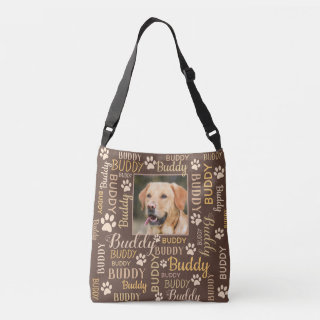 Personalized Photo Names | Brown Dog Crossbody Bag