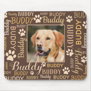 Personalized Photo Names | Dog Mouse Pad