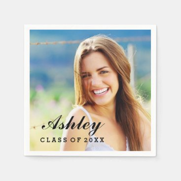 Personalized Photo Napkins | Graduation Party
