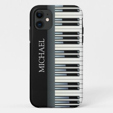 Personalized Piano Keys iPhone 11 Case