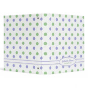 Personalized Purple & Green Polka Dot Binder