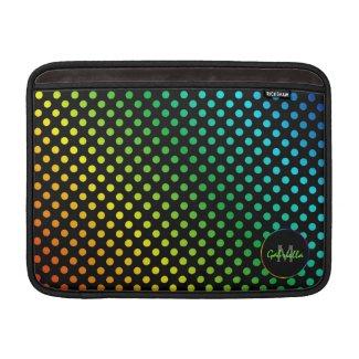Personalized Rainbow: Polka-dot Macbook Sleeve