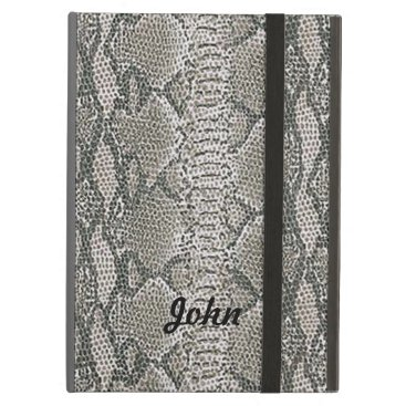 Personalized Snake Skin iPad Case