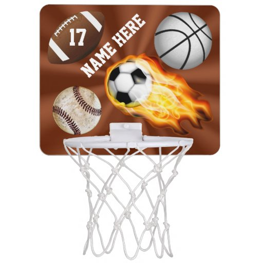 Personalized Sports Gifts for Kids Mini Hoop Mini ...