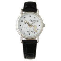 Personalized Unicorn Design Watch