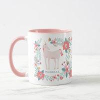 Personalized Unicorn Fields Mug