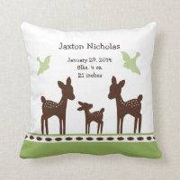 Personalized Willow Deer Family Pillow Keepsake