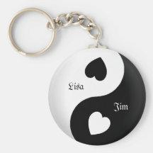 Personalized Yin Yang Love Key Chain