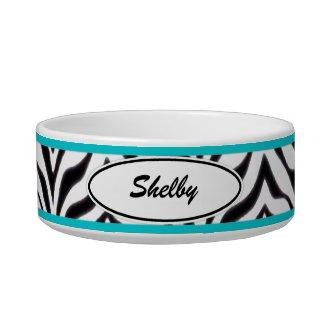 Personalized: Zebra Pet Bowl petbowl