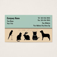 Pet Care Business Cards Fixed