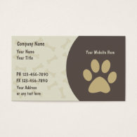 Pet Care Business Cards New