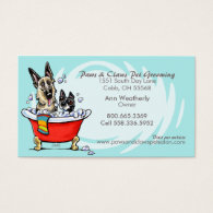 Pet Groomer Spa Wet Dogs Carribean Appointment Business Card