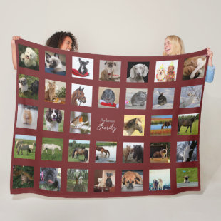 PET Photo Collage Blanket - Keepsake/Memorial Burg
