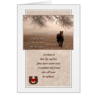 Pet Sympathy Loss of a Horse Sepia Hues Card