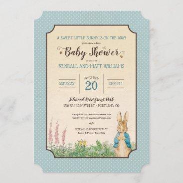 Peter Rabbit   Boy Baby Shower Invitation