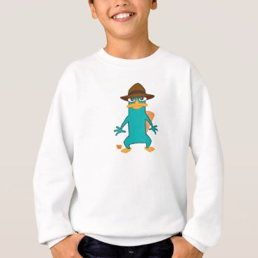 Phineas and Ferb Agent P platypus in hat standing Sweatshirt
