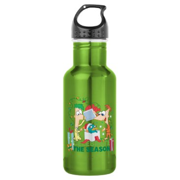 Phineas and Ferb Celebrate the Season Stainless Steel Water Bottle