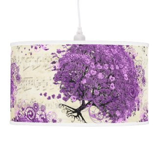 Photo Radiant Orchid Love Bird Wedding Pendant Lamps