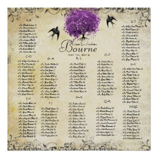 Photo Radiant Orchid Love Bird Wedding Poster