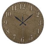 Photo Realistic Rustic, Weathered Wood Board II Wall Clocks