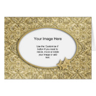 Photo Template - Ornate Embossed Christmas Paper Greeting Cards