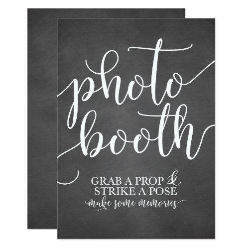 Photobooth Wedding Sign- Grab a Prop Strike a Pose Invitation
