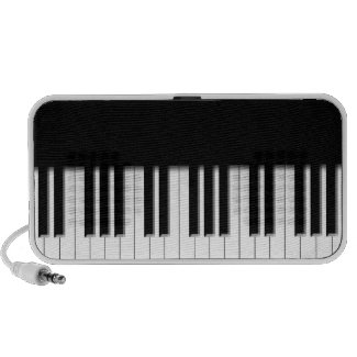 Piano Keys black & white doodle