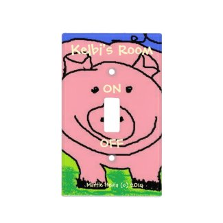 Pig Light Switch Cover