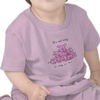 Pig Pyramid Baby / Kids Funny T-Shirt shirt