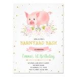 Piggy party farm birthday invitation