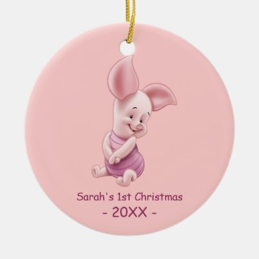 Piglet | Baby's First Christmas Add Your Name Ceramic Ornament