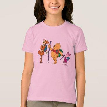 Piglet, Tigger, and Winnie the Pooh Hiking T-Shirt