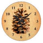 Pine Cone Wallclocks