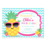 ❤️ Pineapple Luau Birthday Party Invitation