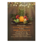 Pineapple Tropical Lights Beach Birthday Party Invitation