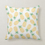 Pineapple watercolor patterned pillow