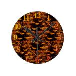 Pinecone Round Clock