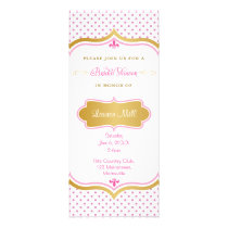Pink and gold Dotty Bridal Shower Invitation