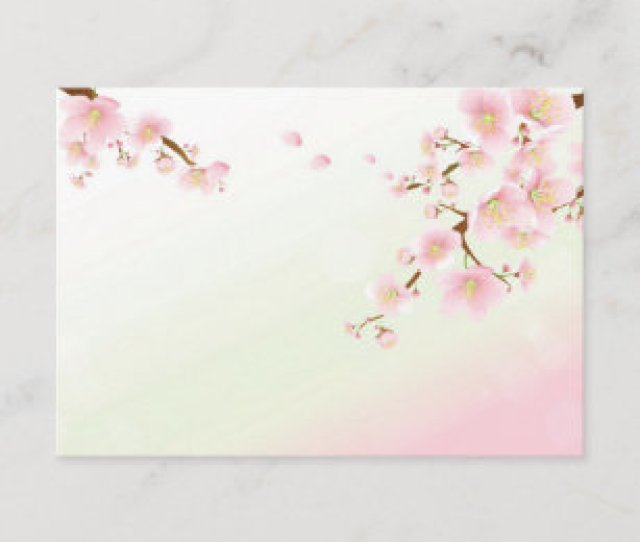 Pink And White Cherry Blossom Thank You Card