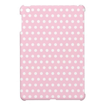 Pink and White Polka Dot Pattern. Spotty. iPad Mini Cover