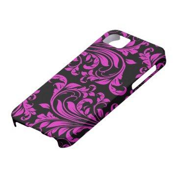 Pink & Black Damask Patterns iPhone 5 iPhone SE/5/5s Case