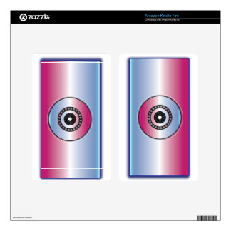 Pink & Blue Abstract Decal For Kindle Fire