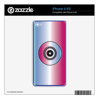 Pink & Blue Abstract iPhone 4S Decal