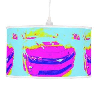 Pink Chevrolet Camaro ZL1 Hanging Pendant Lamp