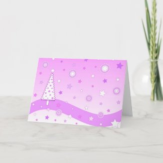 Pink christmas - Card card