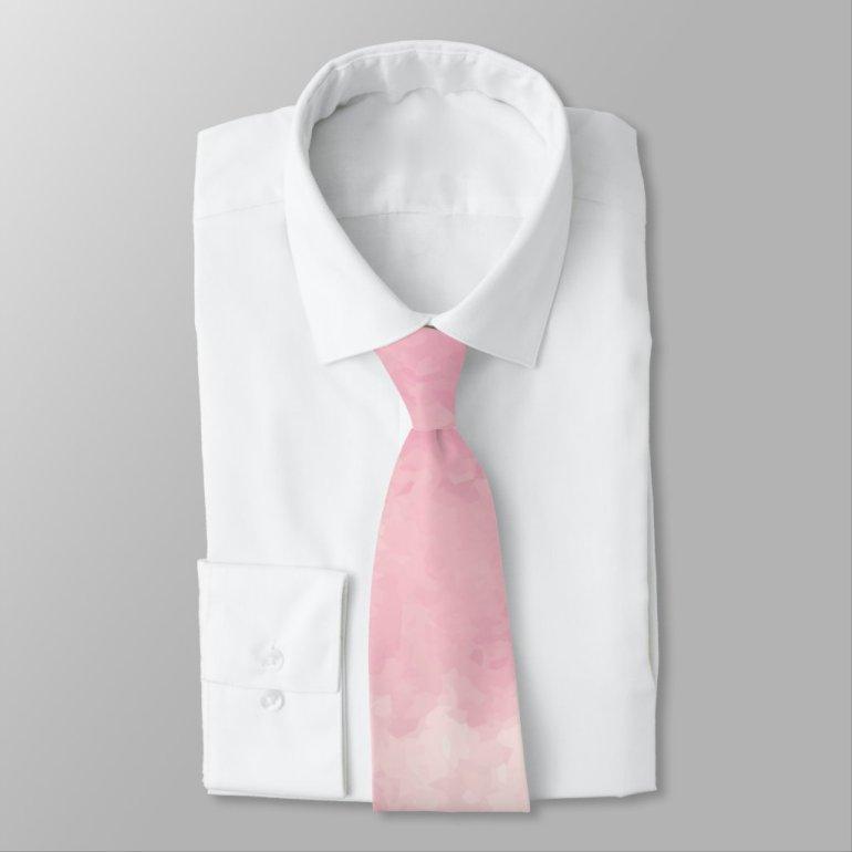 Pink Cotton Candy Watercolor Necktie